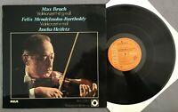 Z936 Bruch/Mendelssohn Violin Concertos Heifetz Sargent RCA J524/0 Stereo