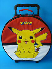 Pokemon PIKACHU Round Rolling Suitcase Kids/Child Travel Luggage 2000--VHTF