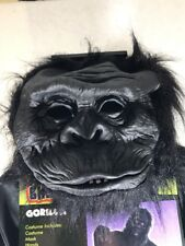 GORILLA COSTUME TOTALLY GHOUL ADULT ONE SIZE NEW COSTUME, MASK, HANDS