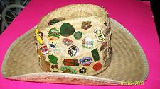CABBAGE PATCH KIDS BRAND COLLECTORS  PINS ON  HANDSIGNED STRAW COWBOY HAT