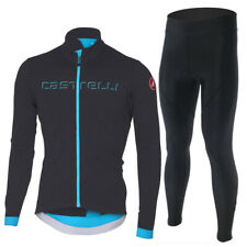 Men Long Sleeve Cycling Jersey Jacket Tights Bicycle Thermal Breathable Clothing