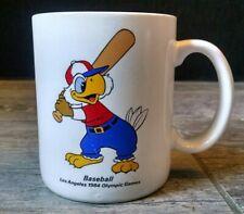 Vintage Los Angeles 1984 Olympic Games Baseball Coffee Mug Sam the Eagle