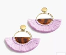 Out! New$59.50 Vivid Lilac With Bag! J.Crew Acetate Fan Statement Earrings! Sold