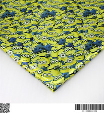 Minions heat transfer Satin fabric textile for Sewing - 50x140CM