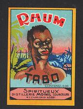 """Domaine de COURCELLES (GUADELOUPE) ETIQUETTE de RHUM TABO """"Distillerie MOINIL"""""""