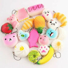 10Pcs Jumbo Medium Mini Soft Bread/Panda/Cake/Buns Phone Straps Random