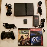 PlayStation 2 Slim Console + 2 Games + controller PS2 Sony SCPH-70012 SEE VIDEO!