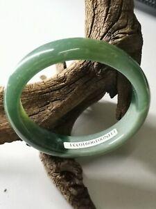 57.8mm Oval Shape Natural Jadeite Jade Bracelet Bangle/冰蓝水飘阳绿天然翡翠贵妃手镯57.8mm