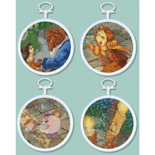 Thomas Kinkade Cross Stitch Kit - Disney Beauty & The Beast Mini Vignettes