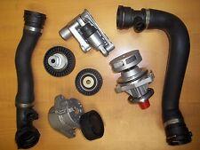 Bmw E46 Water Pump Upper Lower Radiator Hose Tensioner kit set
