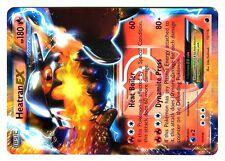 POKEMON BW9 BLACK & WHITE PLASMA FREEZE HOLO N°  13/116 HEATRAN EX 180 HP