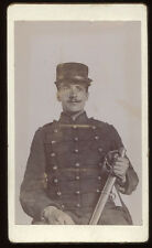French Army officer CDV 22nd Regiment Horse Artillery Bastille Day 1898 signed