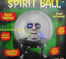"Animated 14"" Spirit Crystal Ball Life-Size Halloween Prop Butler Igor Zultan HTF"