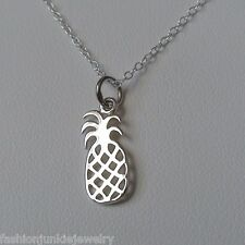 Pineapple Charm Necklace - 925 Sterling Silver - NEW - Hawaii Hospitality Fruit