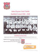 JACK SMITH SHEFFIELD UNITED 1930-1949 RARE ORIGINAL HAND SIGNED CUTTING/CARD