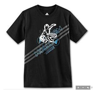 RARE Adidas TRON LEGACY SAM 3D wars Tee Kevin Flynn Jr star T-Shirt~YOUTHS sz XL