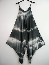 NEW  TIE & DYE QUIRKY FUN LAGENLOOK PLAY SUIT/JUMP SUIT DRAPEY 5 COLS PLUS SIZE