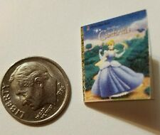 Miniature dollhouse Disney Princess book Barbie 1/12 Scale Cinderella Blue