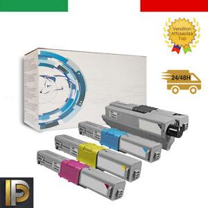 KIT 4 Toner compatibile per Oki C332DN MC363DN MD 363DN fino a 3500 COPIE