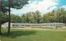 South Paris Maine~Goodwin's Motel on Route 26~Side View & Parking Lot 1950s PC