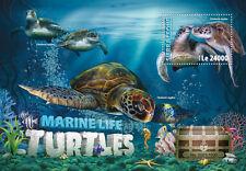 Sierra Leone 2016 MNH Marine Life Turtles 1v S/S Sea Turtle Reptiles Stamps