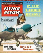 RAF FLYING REVIEW JUL/AUG 59: DRAKEN CUTAWAY/ PARA TRAINING/ GEOFF DE HAVILLAND