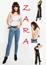 ZARA One Shoulder Frilled Bodysuit Black/Light Mauve New Stretch Top S M L