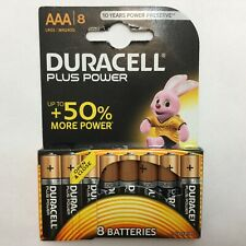 8 X DURACELL AAA BATTERIES 1.5v LR03 / MN2400 PLUS  POWER power check BB 2028