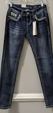 Grace In LA Tapered Leg Jeans Women's Size 25 Distressed Medium Wash Denim NWT