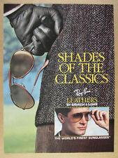 1990 Ray-Ban Leathers Sunglasses vintage print Ad