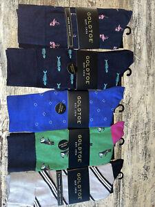 mens gold toe dress socks size 6-12 1/2 multi color