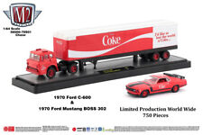 M2 Machines Auto Hauler Coca-Cola 1970 Ford C600 & 1970 Mustang BOSS 302 CHASE