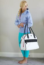 EUC Lululemon Sweat Once A Day Bag White/Black/Raspberry