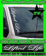 Lifted Life VERTICAL Windshield Vinyl Decal Sticker Truck Car Boost Turbo Diesel