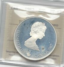 **1987 Curling**,ICCS Graded Canadian $20 Dollar**PF-67 Silver UHC**
