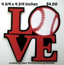 LOVE BASEBALL TITLE sports everyday scrapbook premade paper piecing by Rhonda
