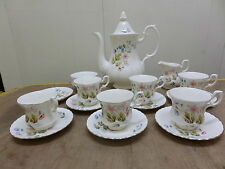 RICHMOND BONE CHINA WILD ANEMONE - COFFEE SET - 16 pieces - WHITE + FLORAL