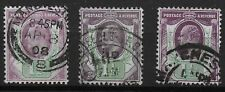 KEVII. 1&1/2d. 3 Fine Used Shades.  Ref 0753