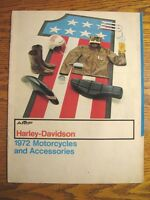 1972 Harley-Davidson Motorcycles Accessory Accessories Brochure, Original 22 pp