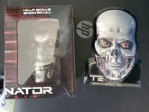Terminator Genisys Half Scale Endo Skull MIB And T2 Tin