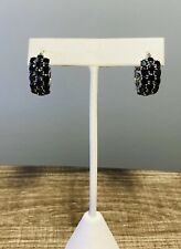 Sterling Silver Earrings with Genuine Blue Sapphires