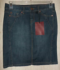 NWT WOMENS JUNIORS makers of true originals DISTRESSED BLUE JEAN SKIRT  SIZE 29