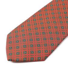 New E.MARINELLA NAPOLI Red and Green Floral Check Print Silk Tie