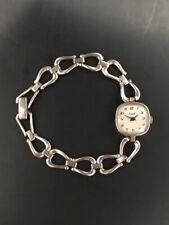 Montre bracelet EHOR en argent pour femme à quartz Vintage silver women's watch