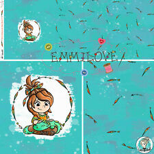 Drachenmädchen Neytiri - Panel  Eigenproduktion Bio-Jersey Emmilove Tintenrebell