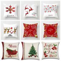 Merry Christmas Xmas Gift Throw Pillow Case Cover Cushion Sofa Car Home Decor