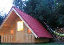 Alpholz Campinghouse 44 Holz 44 mm Satteldach Blockhaus Gartenhaus Freizeithaus