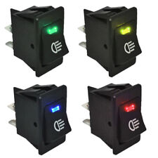 4Pins LED On/Off Indicator Rocker Toggle Switch Driving Fog Lamp/Work Light Bar
