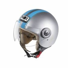 Casque scooter Moto Jet NOX N210 Gris Bleu XS
