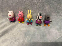 Peppa Pig Muddy Puddle Figures - Suzy Sheep, Peppa Pig Rebecca Rabbit Zoey Zebra